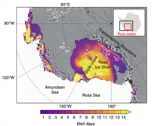Risultati immagini per event on the surface of highly vulnerable West Antarctica