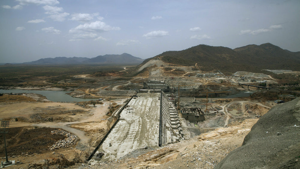 The Grand Ethiopian Renaissance Dam under construction in 2015. The 6,000-megawatt dam, now nearing completion, will be Africa's largest.