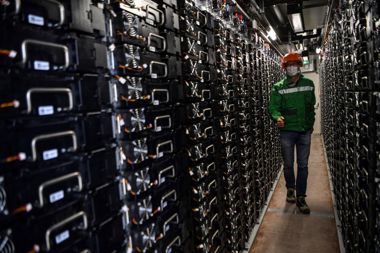 A battery storage facility in Fontenelle near Dijon, France.