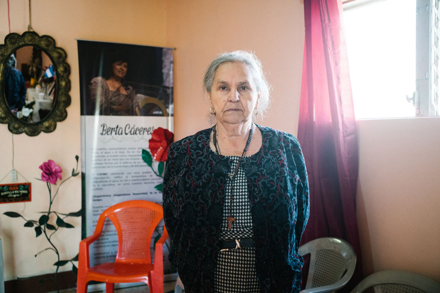 Austraberta Flores, Cáceres's mother, says authorities were aware of threats against her daughter, but did nothing to protect her.