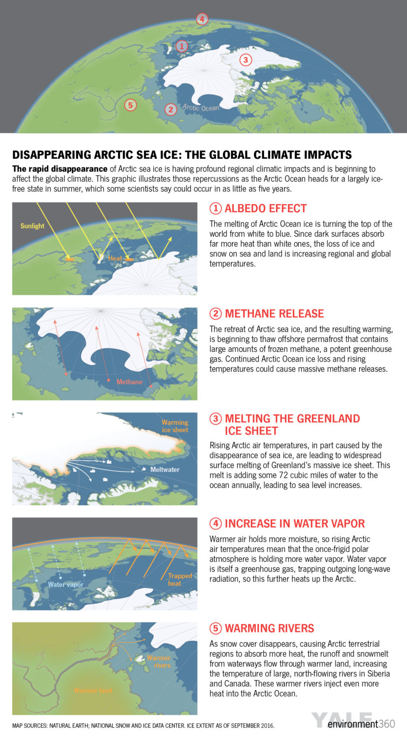 the global impacts of rapidly disappearing arctic sea ice yale e360 click to enlarge