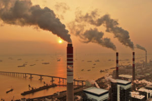 A coal-fired power plant in China's Jiangsu province.