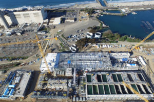 "The Claude ""Bud"" Lewis Carlsbad Desalination Plant on the California coast provides 50 million gallons of fresh water a day to San Diego."