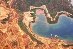 A mining operation in Surigao del Norte, a province in the Philippines.