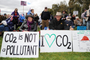 An anti-climate action rally in Australia.