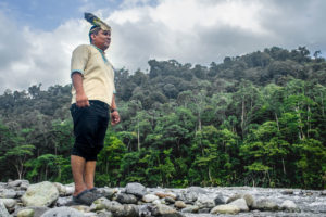 Reynaldo Santana, the King of the Naso, on the banks of the Teribe River in northwest Panama.