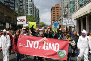An anti-GMO march in Vancouver, Canada.