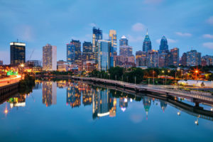 Center City Philadelphia, viewed from the Schuylkill River.