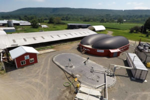 A manure and food waste-to-energy facility at Bar-Way Farm in Deerfield, Massachusetts.