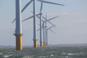 Wind turbines at the Burbo Bank project in the U.K.