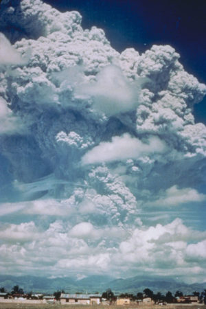 The eruption of Mount Pinatubo in the Philippines in 1991.