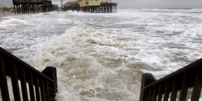 Tropical Storm Lee floods Dauphin Island in September 2011.