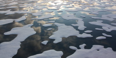 Arctic Ocean sea ice melt as seen from the U.S. Coast Guard icebreaker Cutter Healy.