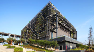 An energy-efficient building in the Shenzhen International Low Carbon City.