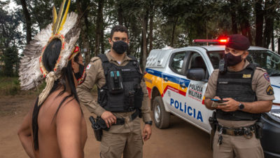 An Indigenous Pataxó Hã-Hã-Hãe man seeks protection from military police after villagers were threatened by people who seized their land.