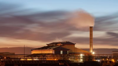 A waste-to-energy incinerator at Haverton Hill near Middlesbrough, England.