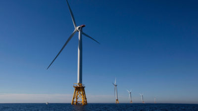 Block Island Wind Farm off the Rhode Island coast began operating in December 2016.
