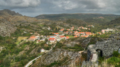 The town of Castro Laboreiro, Portugal, where former grazing lands have reverted to nature.