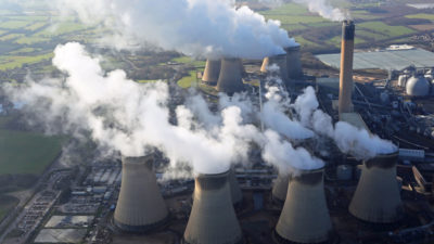 The Drax Power Station in North Yorkshire, England.