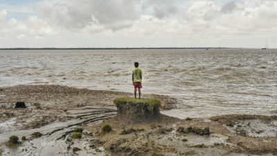 Sea level rise has shrunk India's Ghoramara Island from nearly 8 square miles to 2 square miles in recent decades.