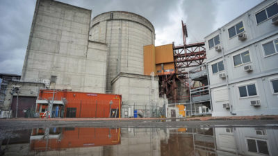 Unit 2 reactor at the French nuclear power plant in Chinon, switched off in June 2016 and now being decommissioned.