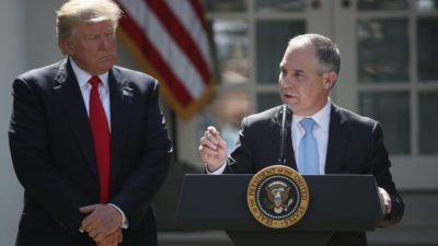 EPA Administrator Scott Pruitt and President Trump at the White House last June.