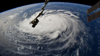 Hurricane Florence as seen from the International Space Station on September 10.