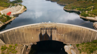 Engineers have found cracks in the 420-foot-high Kariba Dam on the Zambezi River in Southern Africa.