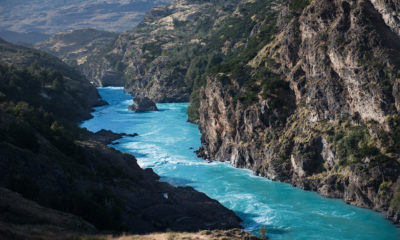 The free-flowing Baker River in Chile's Patagonia region. Permits for a major hydroelectric project on the waterway were revoked in 2014 amid protests.