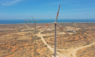 The Jepírachi wind farm on the Guajira Peninsula, Colombia.