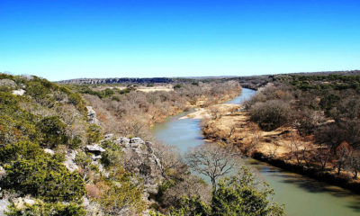 The Llano River, as it cuts through the Edwards Plateau northwest of Austin.