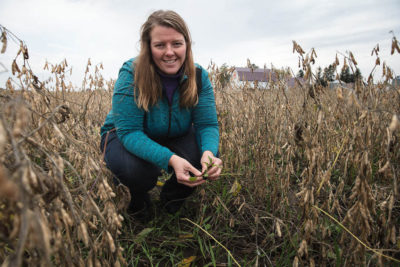 Agronomist Sarah Carlson, of Practical Farmers of Iowa, which advocates for small grains.