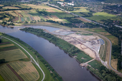 This embayment near the Wilhemsberg section of Hamburg was created to allow in river water and slightly relieve flooding.