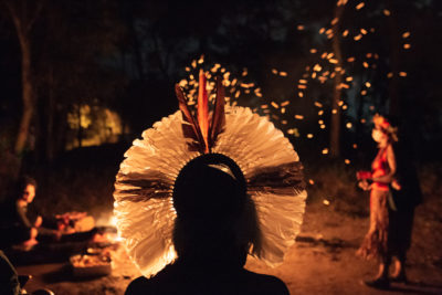 A Pataxó Hã-Hã-Hãe ceremony for the possession of Mata do Japonês.