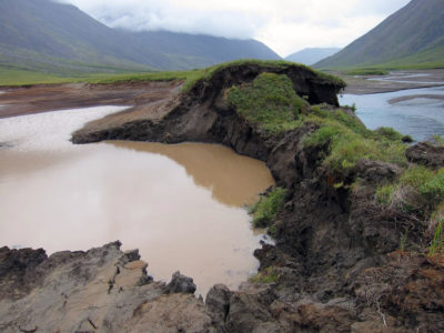 Thawing permafrost in Gates of the Arctic National Park in Alaska.