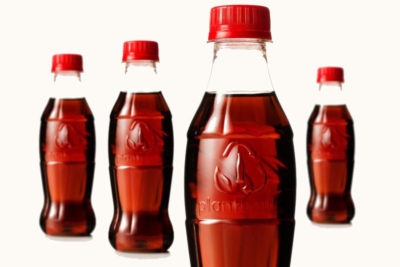 Coca-Cola's new PlantBottle is made from 30 percent sugar cane and other plants, with the rest made from traditional oil-based plastic.