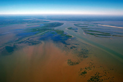The delta of the Atchafalaya River on the Gulf of Mexico.