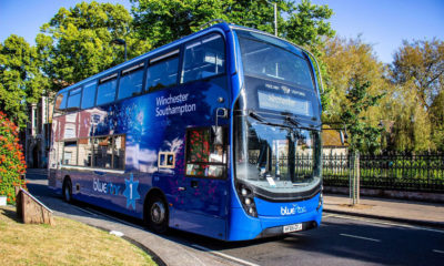 Southampton's new bus will clean the air along its route 16 times per year.