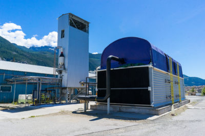 Carbon Engineering's direct air capture pilot plant in British Columbia.