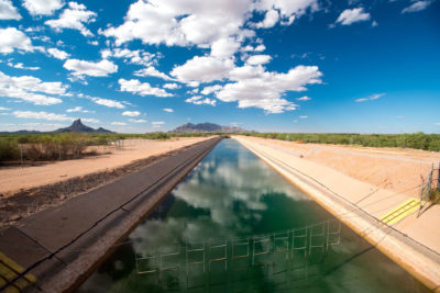 Construction of the $4 billion Central Arizona Project began in 1973 and took two decades to complete. The canal stretches from Lake Havasu on the Colorado River to its terminus southwest of Tucson, serving about 80 percent of Arizona's population.