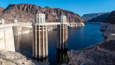 Water levels in Lake Mead at the Hoover Dam in Nevada have hit an all-time low. If levels continue to fall, Phoenix and other places south of the dam would get no Colorado River water.