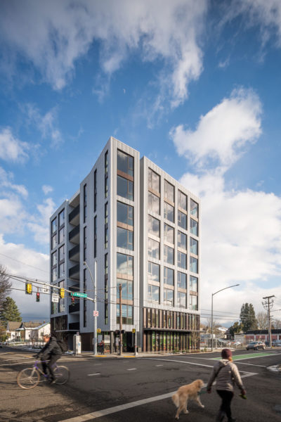 Carbon 12 in Portland, Oregon is the tallest building in the United States made with mass timber.