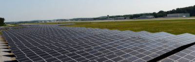 A newly completed 2.64-MW solar array at the Chattanooga Airport produces enough green electricity to cover all of the airport's energy needs.