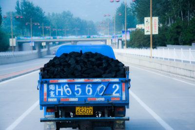 Coal truck in Beijing.