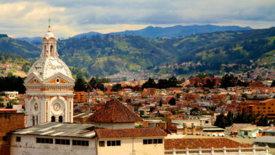 The city of Cuenca, Ecuador, which recently won a legal battle to allow communities to vote on new mining projects.