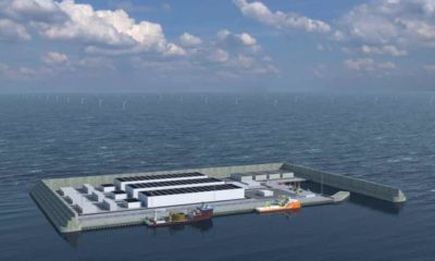 A simulation of Denmark's clean energy island, due to be completed by 2033.