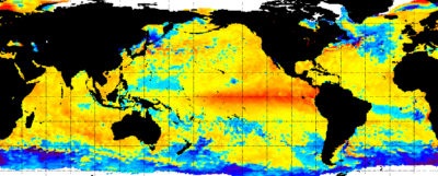 Sea surface temperature anomalies in November 2015.