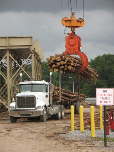 A U.S. timber processing plant that ships wood pellets to the Drax power station in Britain.