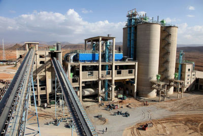 The National Cement Share Company factory in Ethiopia.