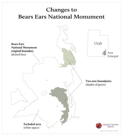 President Trump's executive order reduces the size of Bears Ears National Monument by 85 percent.